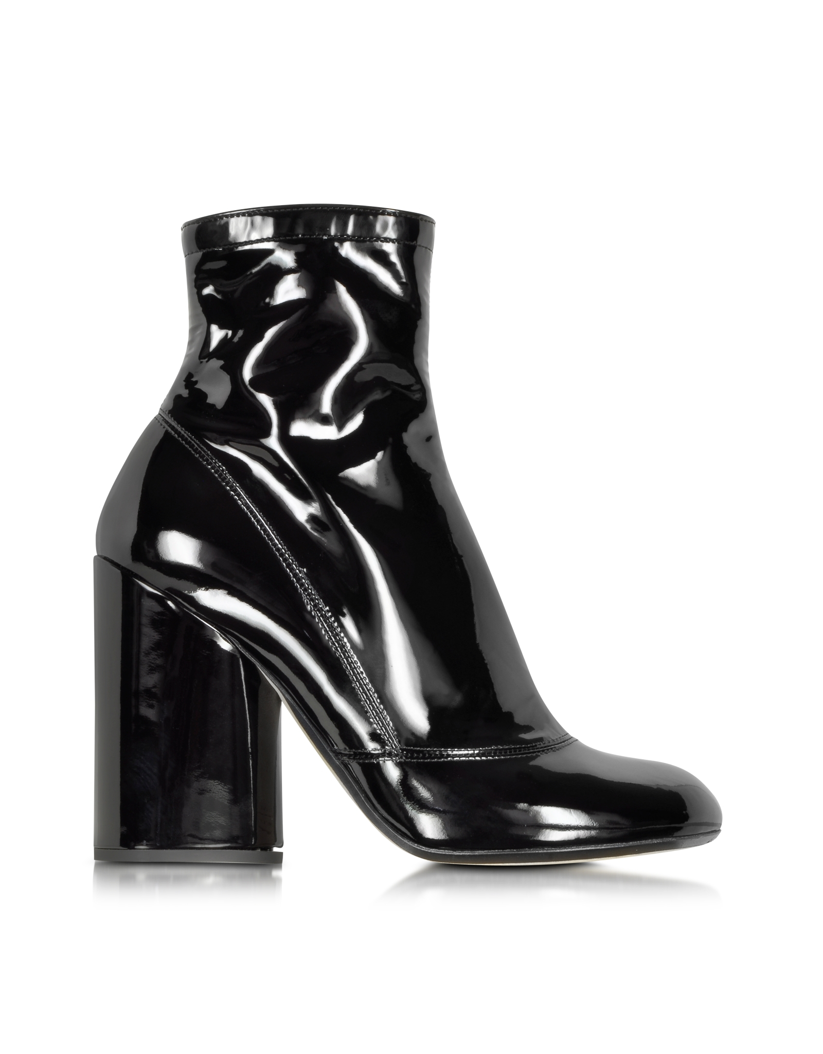 39e29cf97c3f Lyst - Marc Jacobs Black Patent Leather Boot in Black