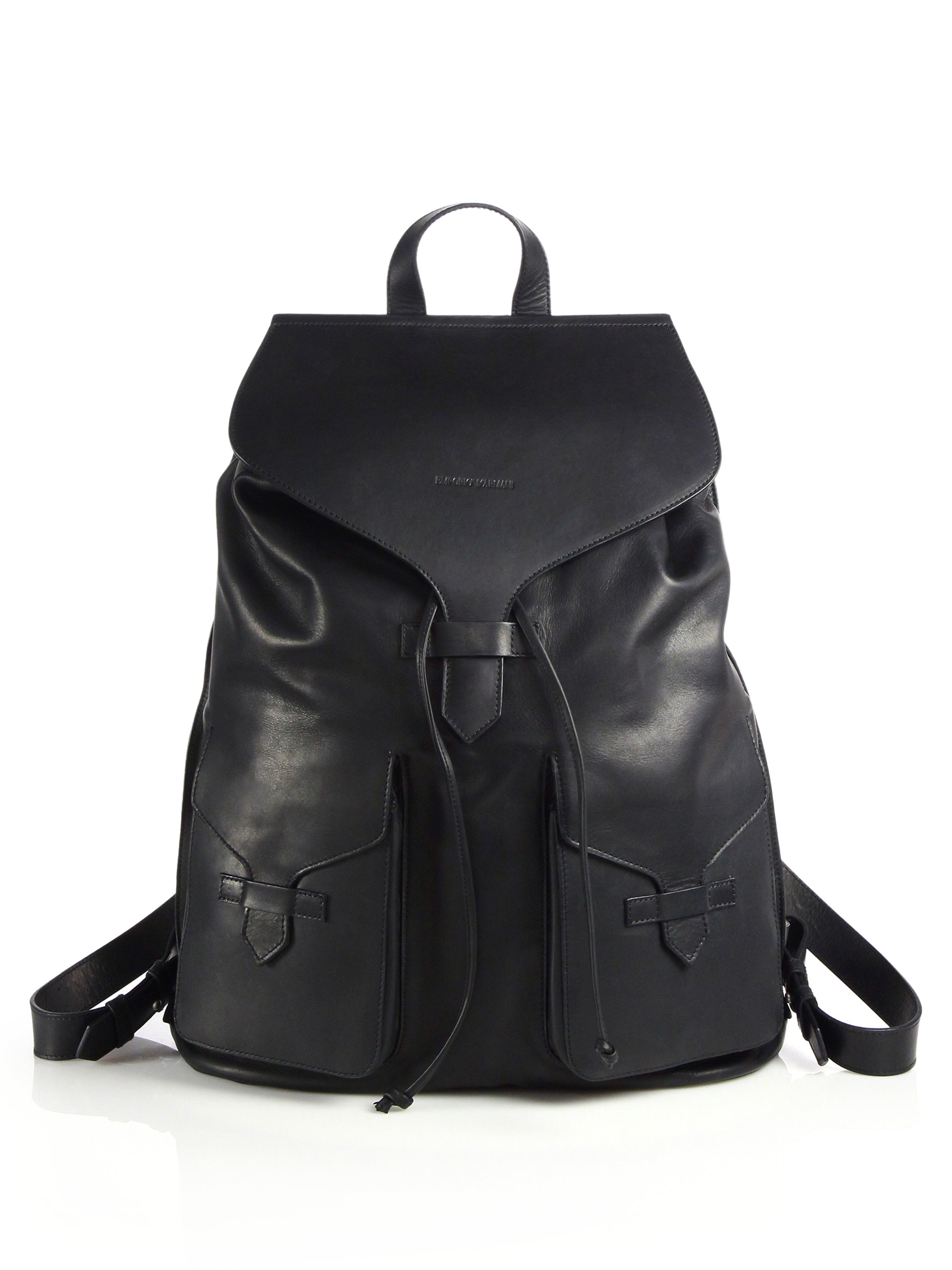 Lyst Emporio Armani Toro Leather Backpack In Black For Men