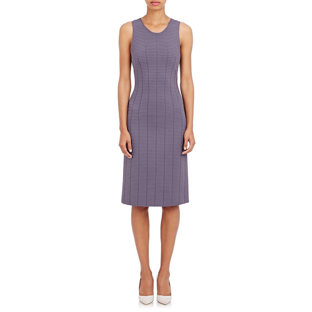 fb9b727fe3e95 Lyst - Giorgio Armani Ottoman Body-con Dress in Purple