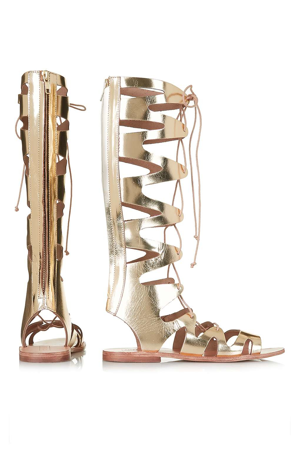 ed005aefe22a Lyst - TOPSHOP Figtree Gladiator Sandals in Metallic