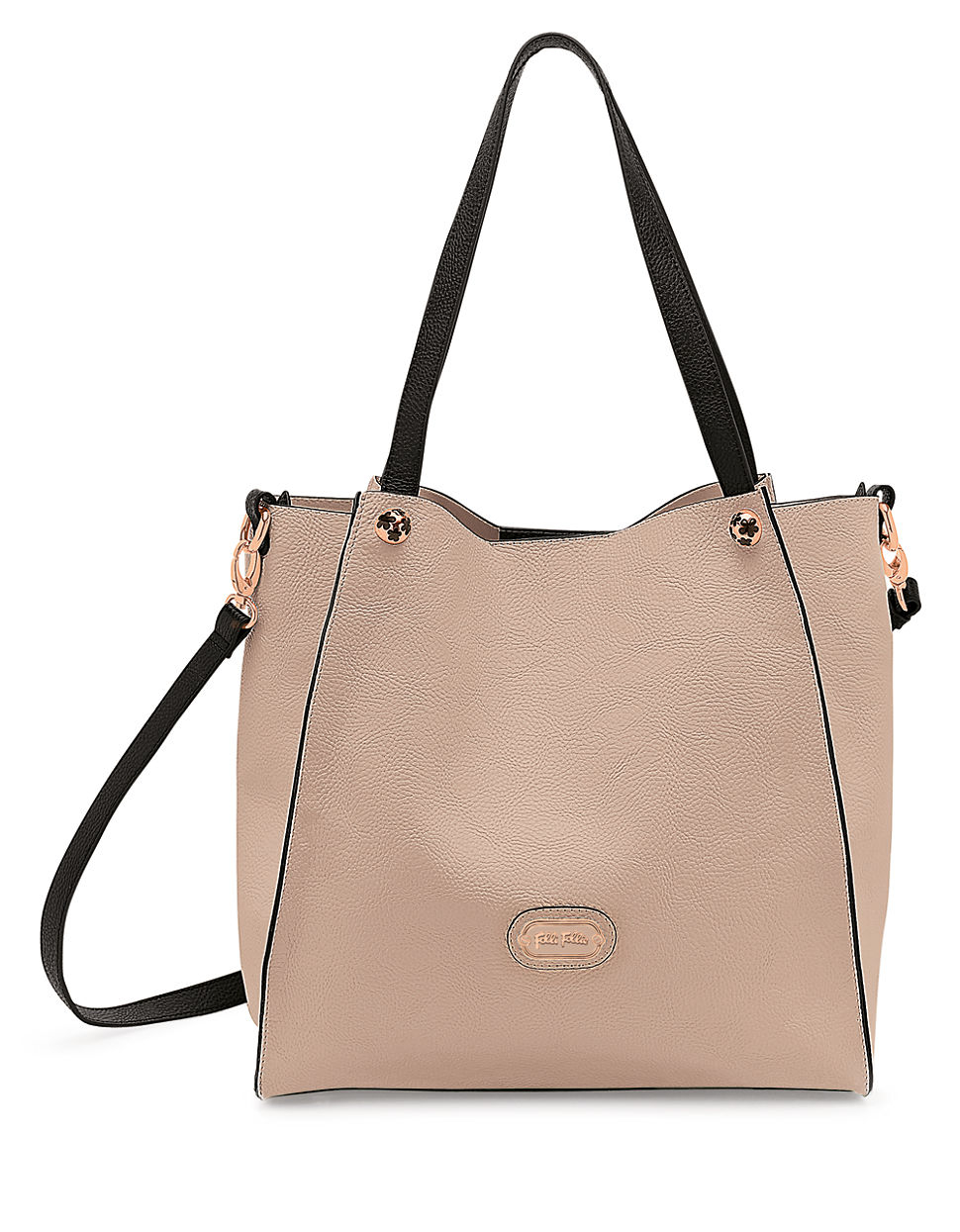 Lyst Folli Follie White Flower Ball Crossbody Bag In Natural