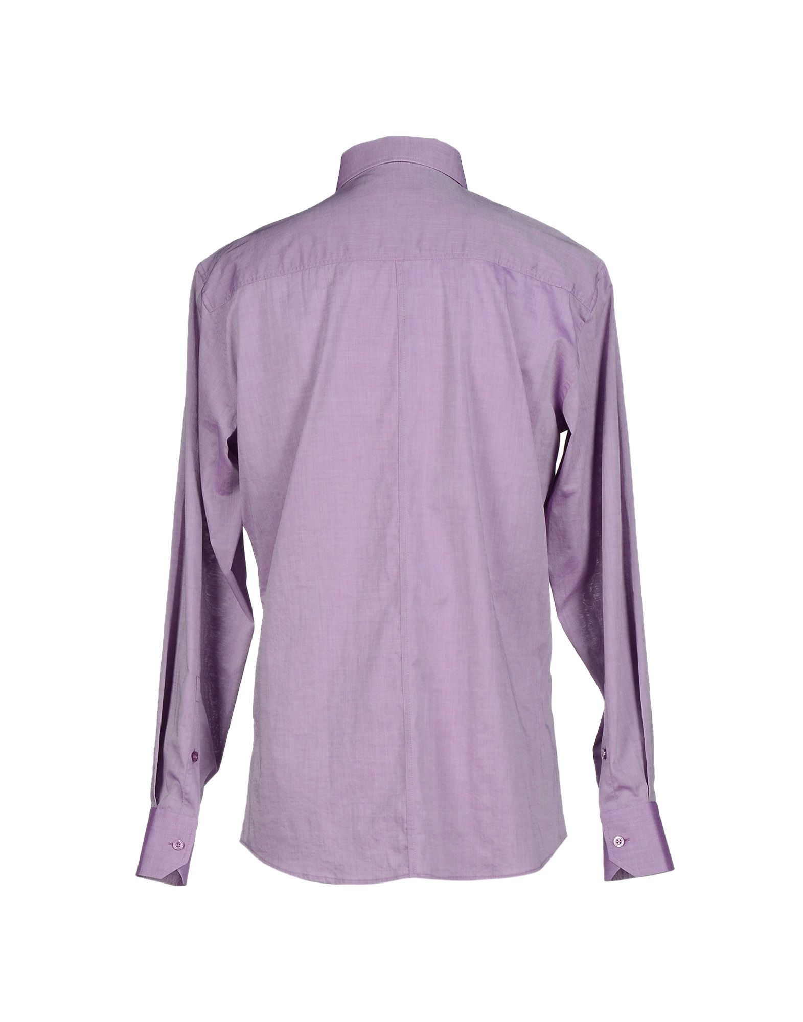 Versace jeans shirt in purple for men lyst Light purple dress shirt men