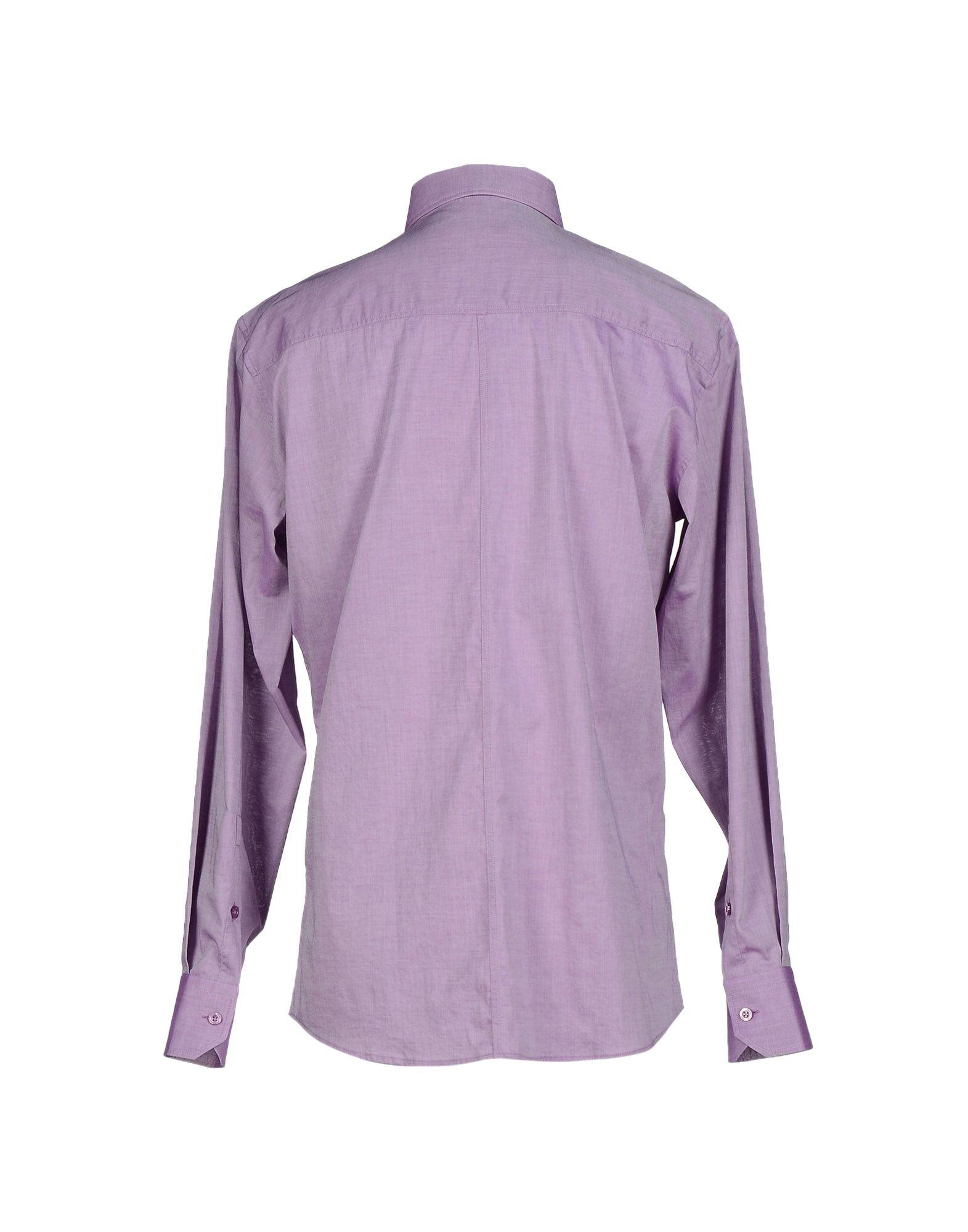 Versace jeans shirt in purple for men lyst Light purple dress shirt men