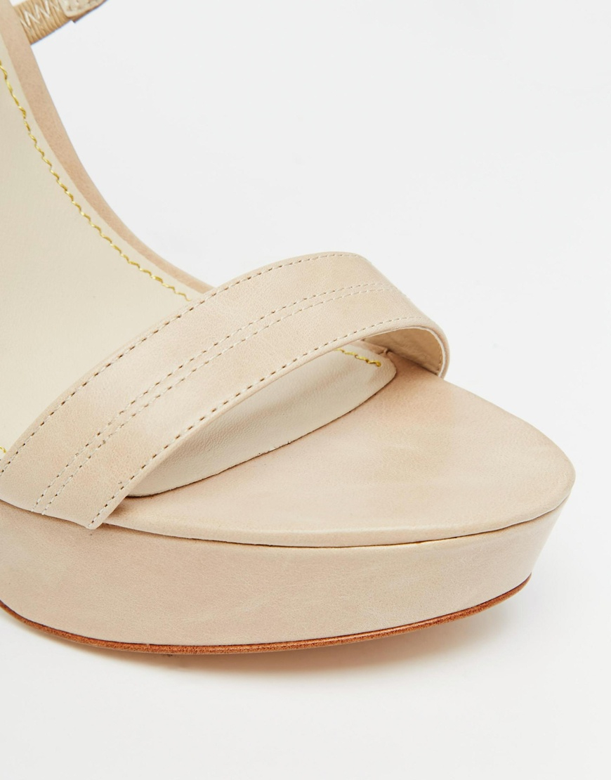 cce4aa94e77 Lyst - Windsor Smith Mariah Nude Leather Platform Heeled Sandals in Natural