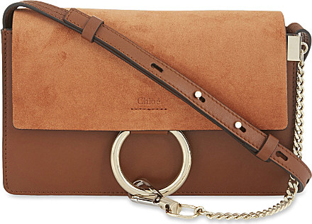chleo bag - Chlo�� Faye Small Leather Suede Clutch in Brown (Tobacco)   Lyst