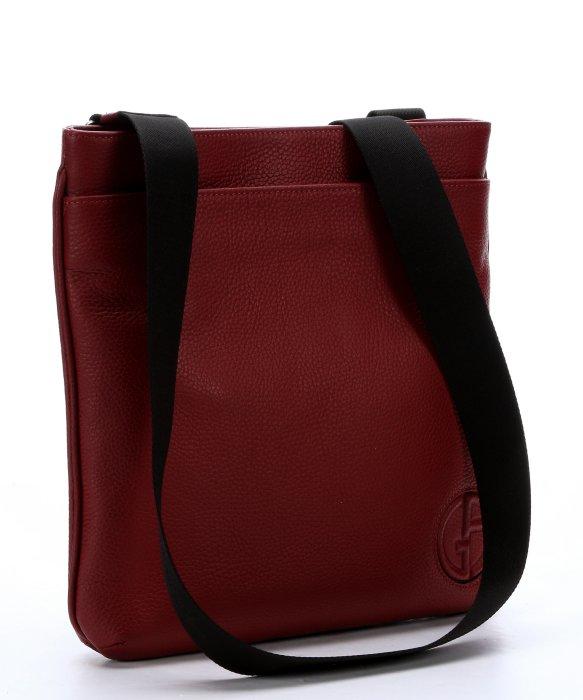 11cc8491fc Lyst - Giorgio Armani Rubin Logo Embossed Leather Crossbody Bag in ...