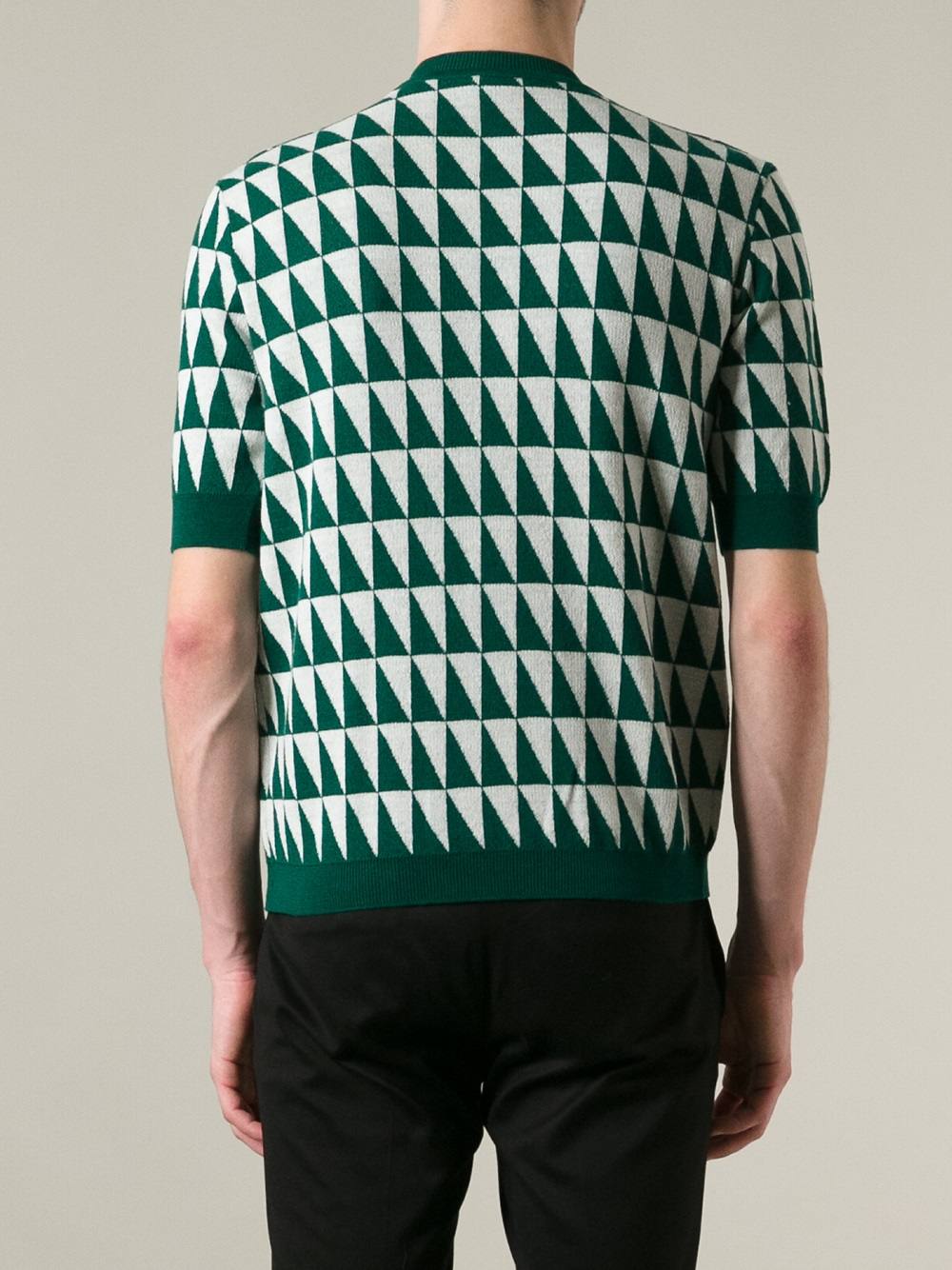 Raf simons Short Sleeve Sweater in Green for Men | Lyst