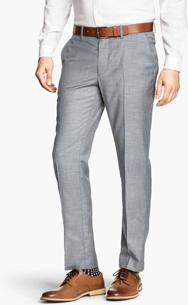 H Amp M Suit Trousers In Gray For Men Light Mole Lyst
