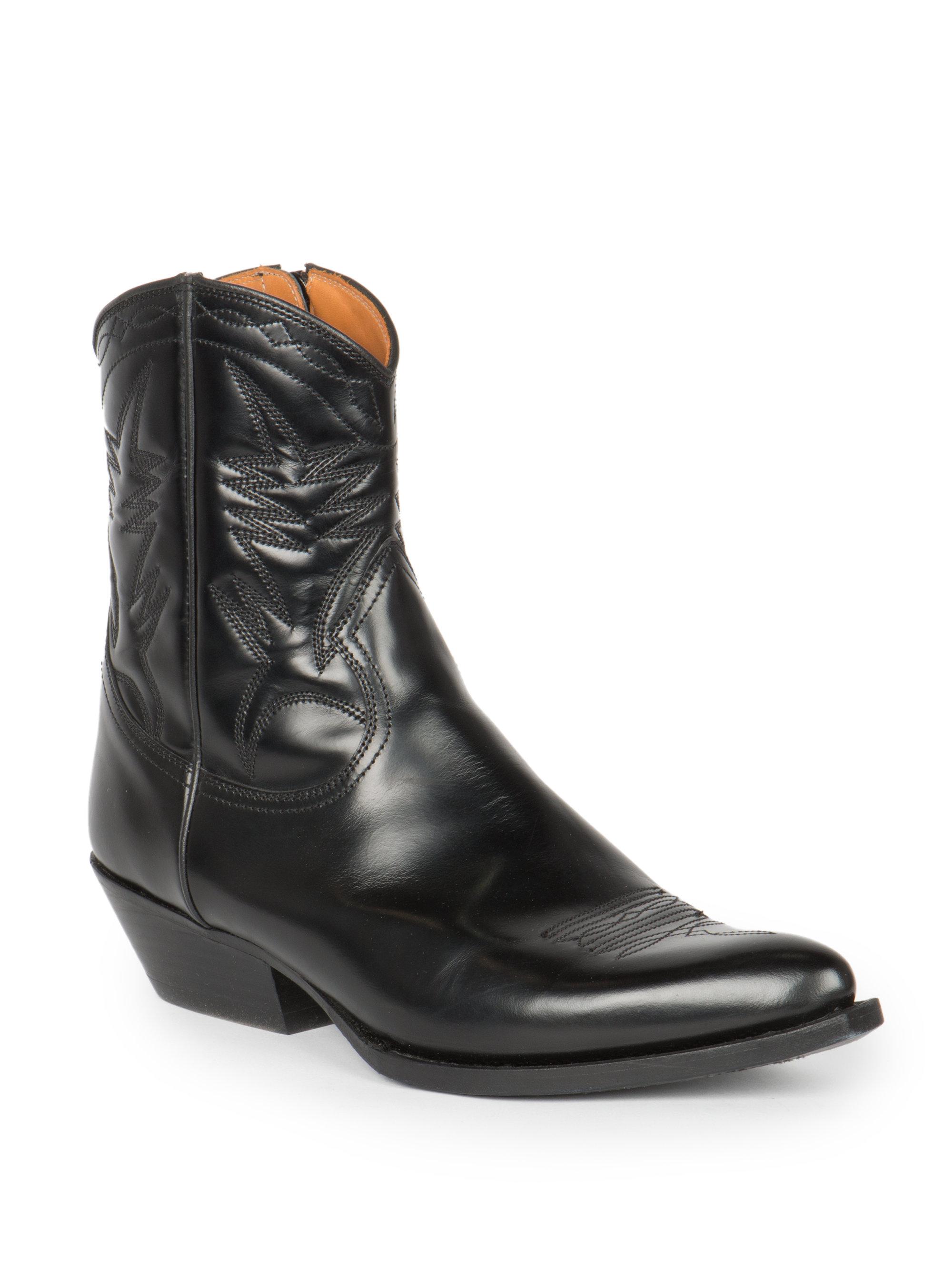 Lyst Saint Laurent Santiag Leather Western Ankle Boots