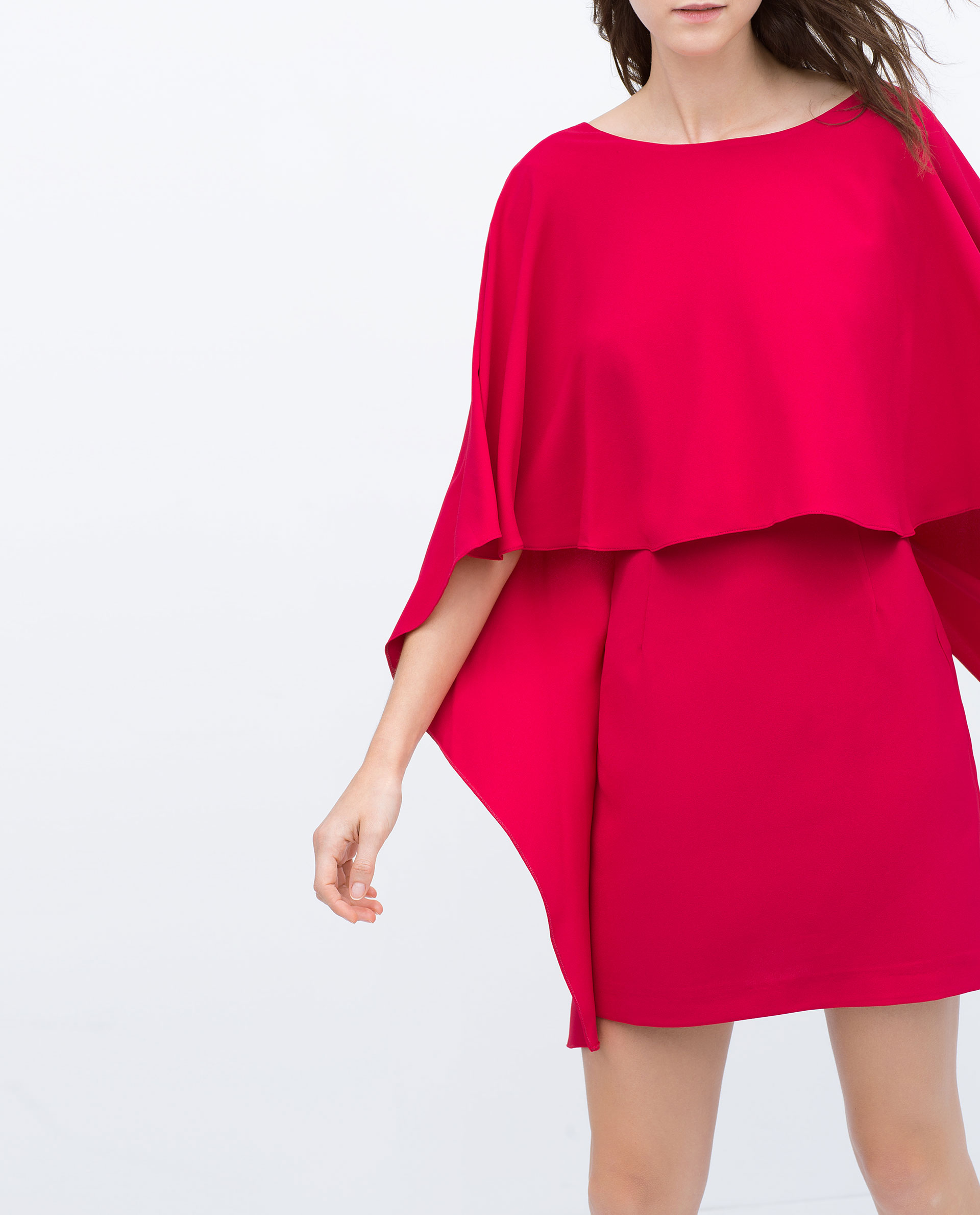 zara cape dress with low back in pink lyst. Black Bedroom Furniture Sets. Home Design Ideas