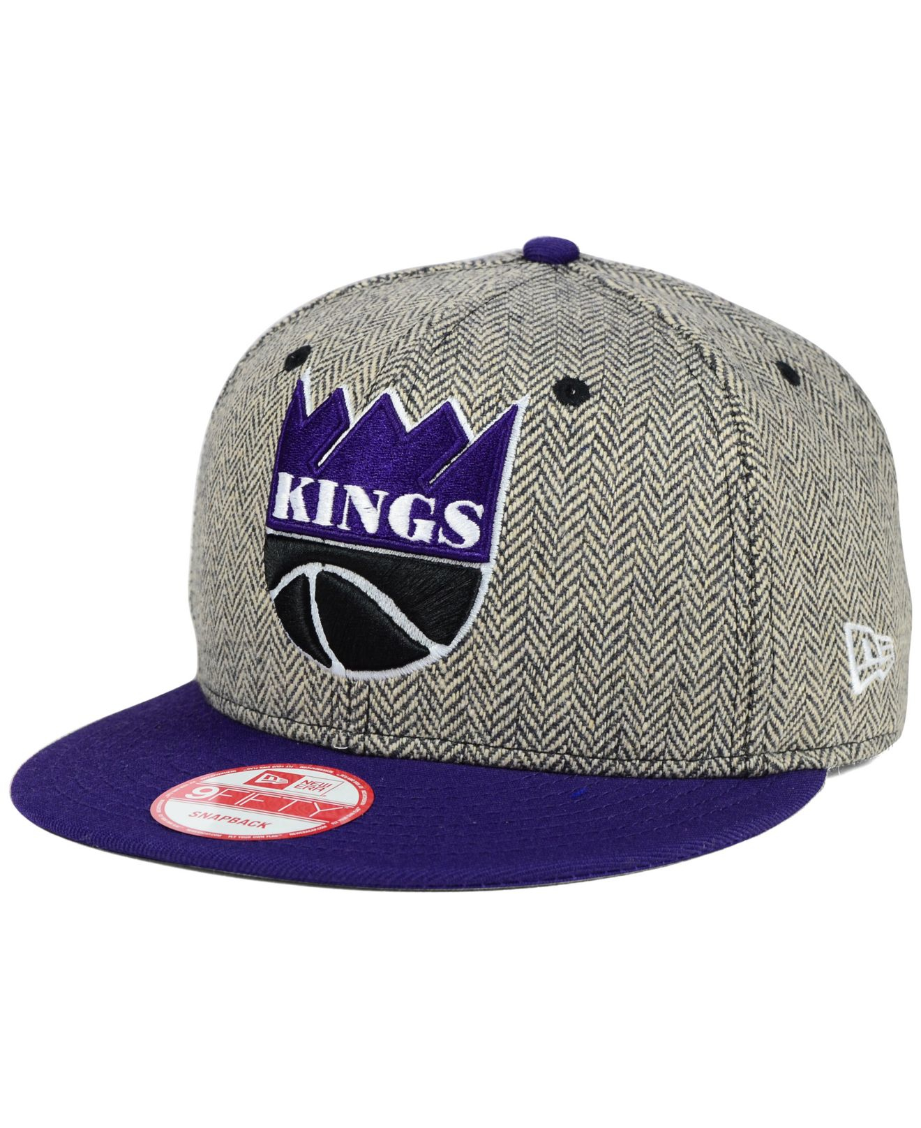 uk availability a8adf 7e447 Lyst - KTZ Sacramento Kings Houndsteam Snapback Cap in Gray for Men