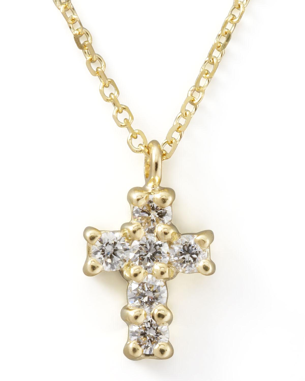 kc designs small diamond cross pendant necklace in gold. Black Bedroom Furniture Sets. Home Design Ideas