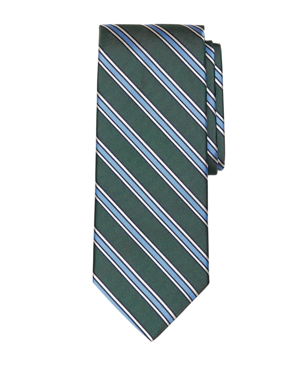 Lyst - Brooks brothers Framed Stripe Tie in Green for Men