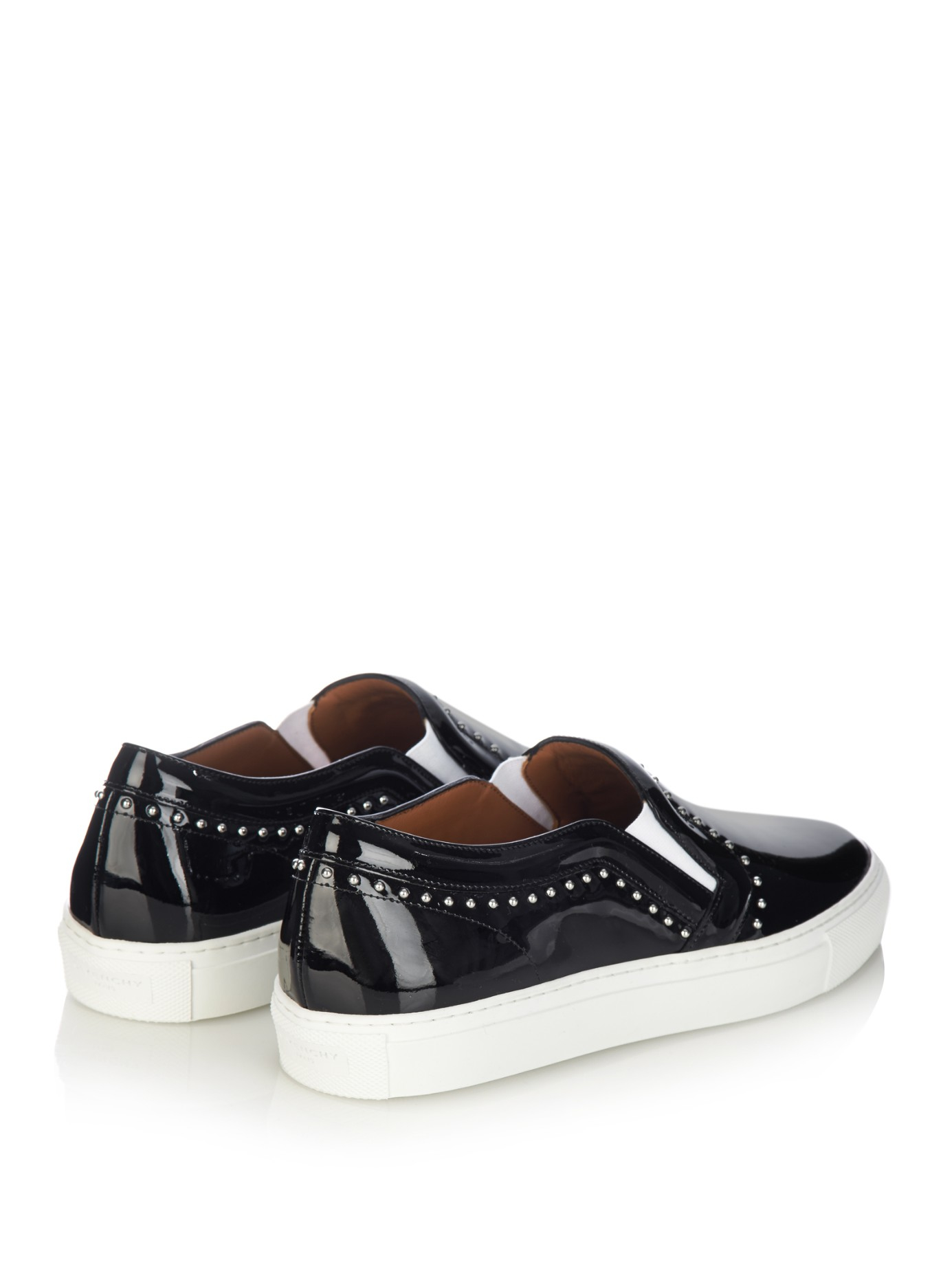 Givenchy Studded Patent Leather Sneakers