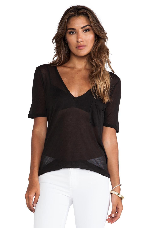 Lyst Capulet Deep V Neck Shirt In Black