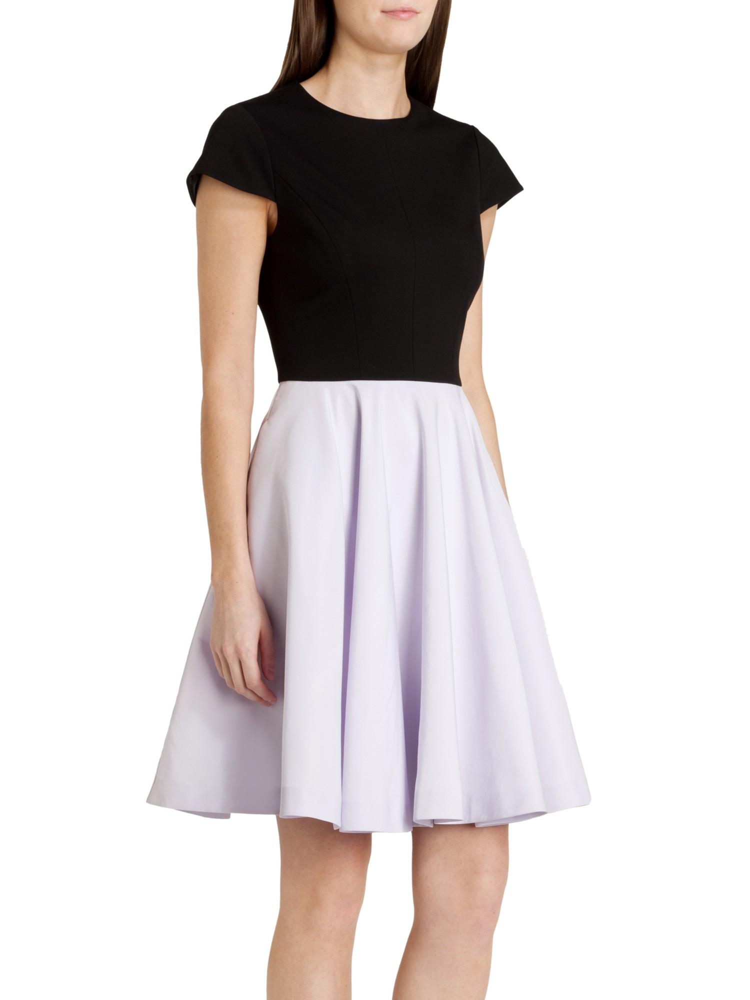 6312b1177 Ted baker contrast full skirt dress in purple lyst jpg 1500x2000 Ted baker  lavender dress