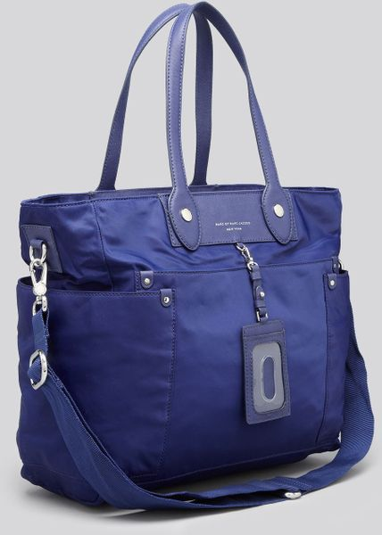marc by marc jacobs diaper bag preppy nylon elizababy in blue deep ultraviolet lyst. Black Bedroom Furniture Sets. Home Design Ideas