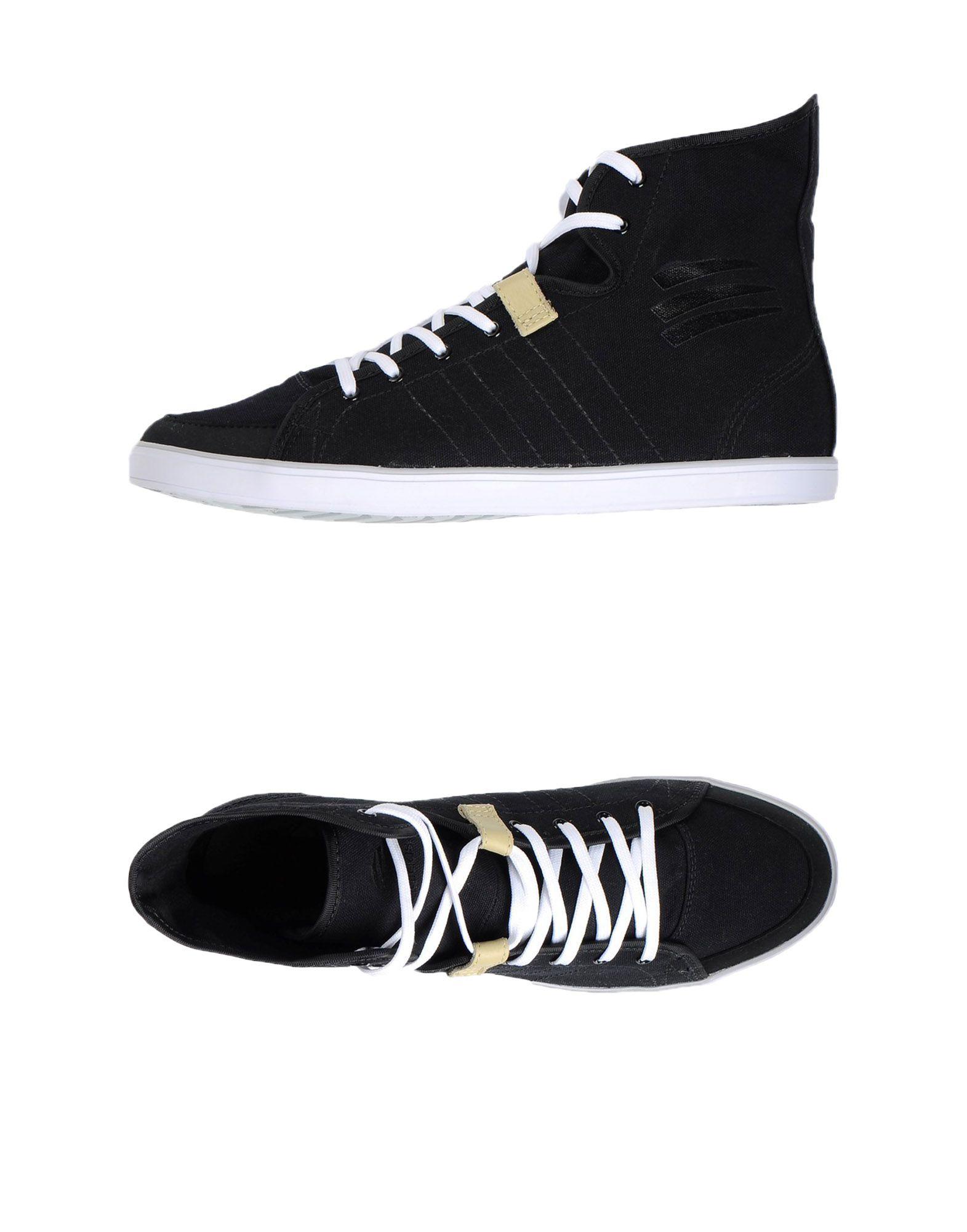adidas slvr high top sneakers in black for lyst
