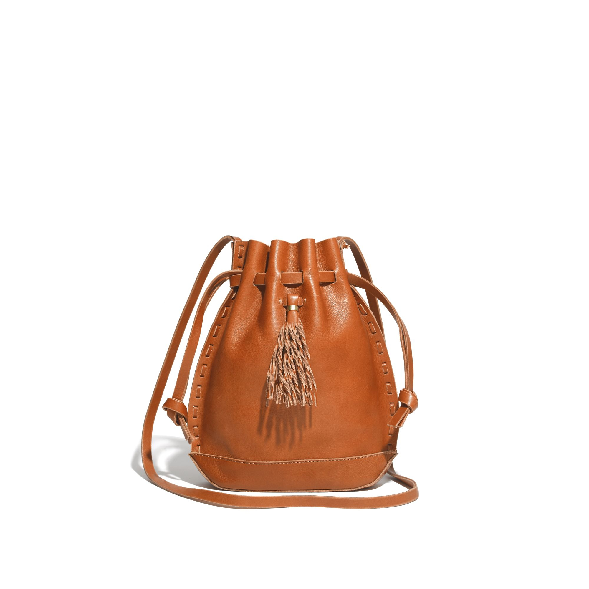madewell the crossbody bag in brown burnished