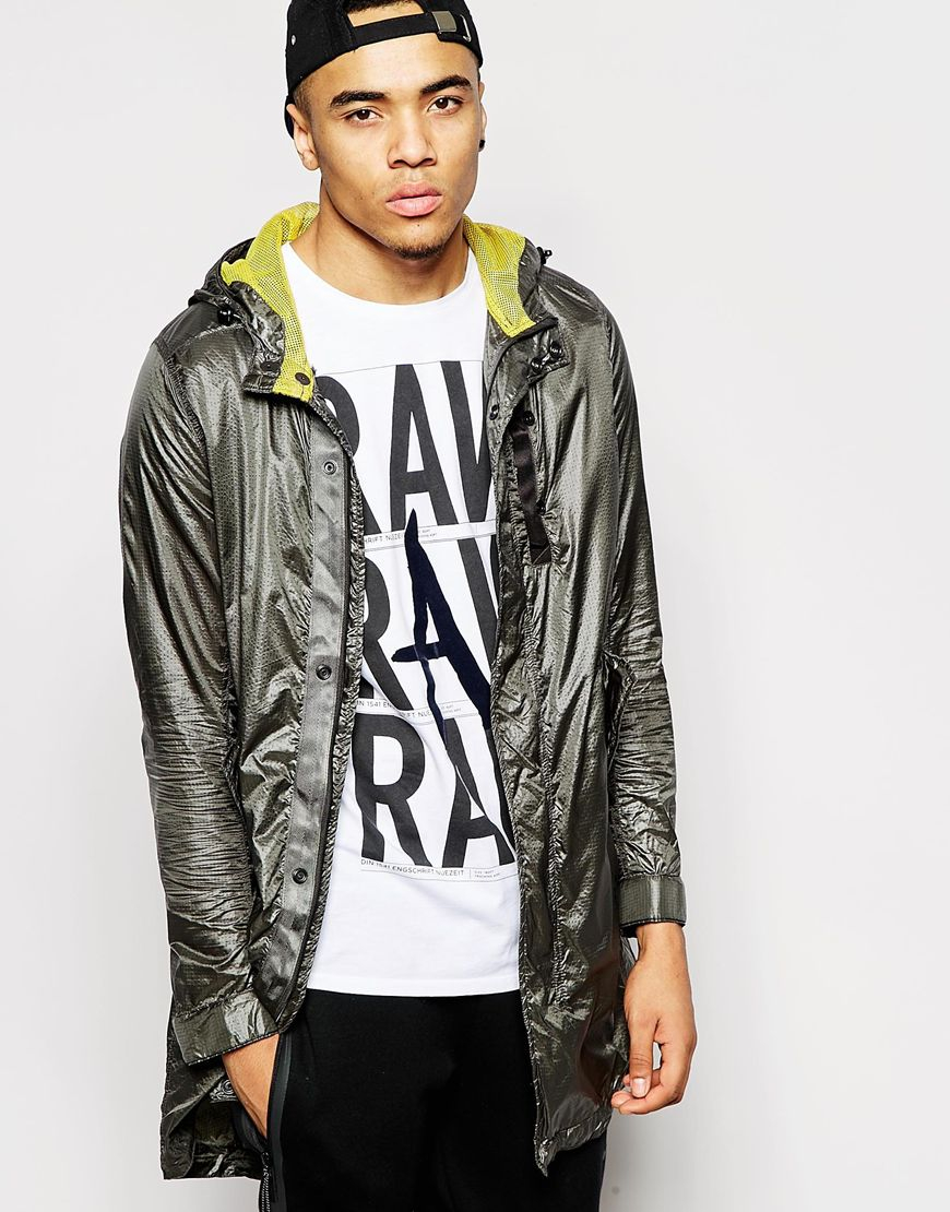 g star raw hooded parka rovic quilted camo inner jacket in. Black Bedroom Furniture Sets. Home Design Ideas