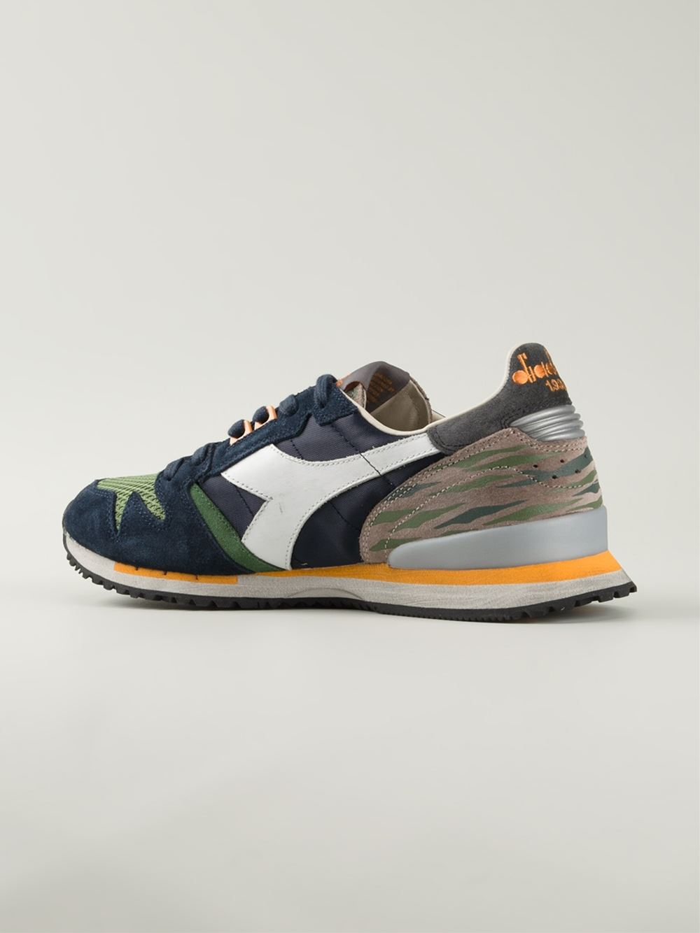 Lyst - Diadora Lace Up Retro Sneakers in Green for Men