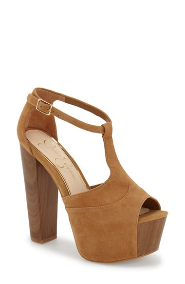 Jessica Simpson Dany Suede Platform Sandals In Natural Lyst