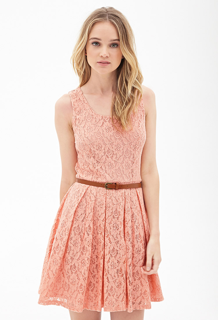 Forever 21 light pink lace dress