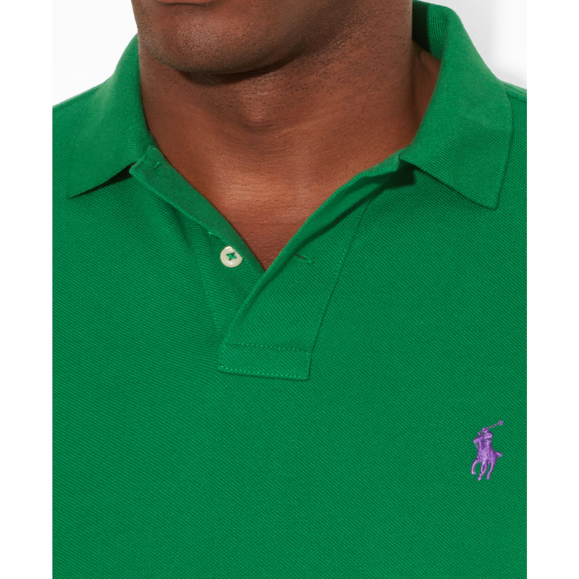 Polo ralph lauren Classic-Fit Short-Sleeve Cotton Mesh Polo in Green for Men