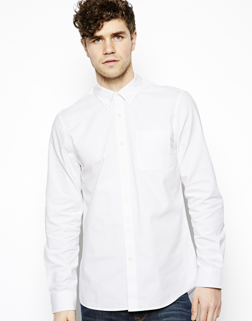 Jack Wills Oxford Shirt In White For Men Lyst