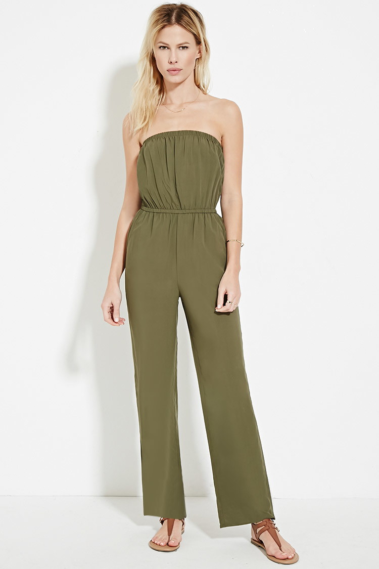 Luxury Forever 21 Floral WideLeg Jumpsuit In Blue  Lyst