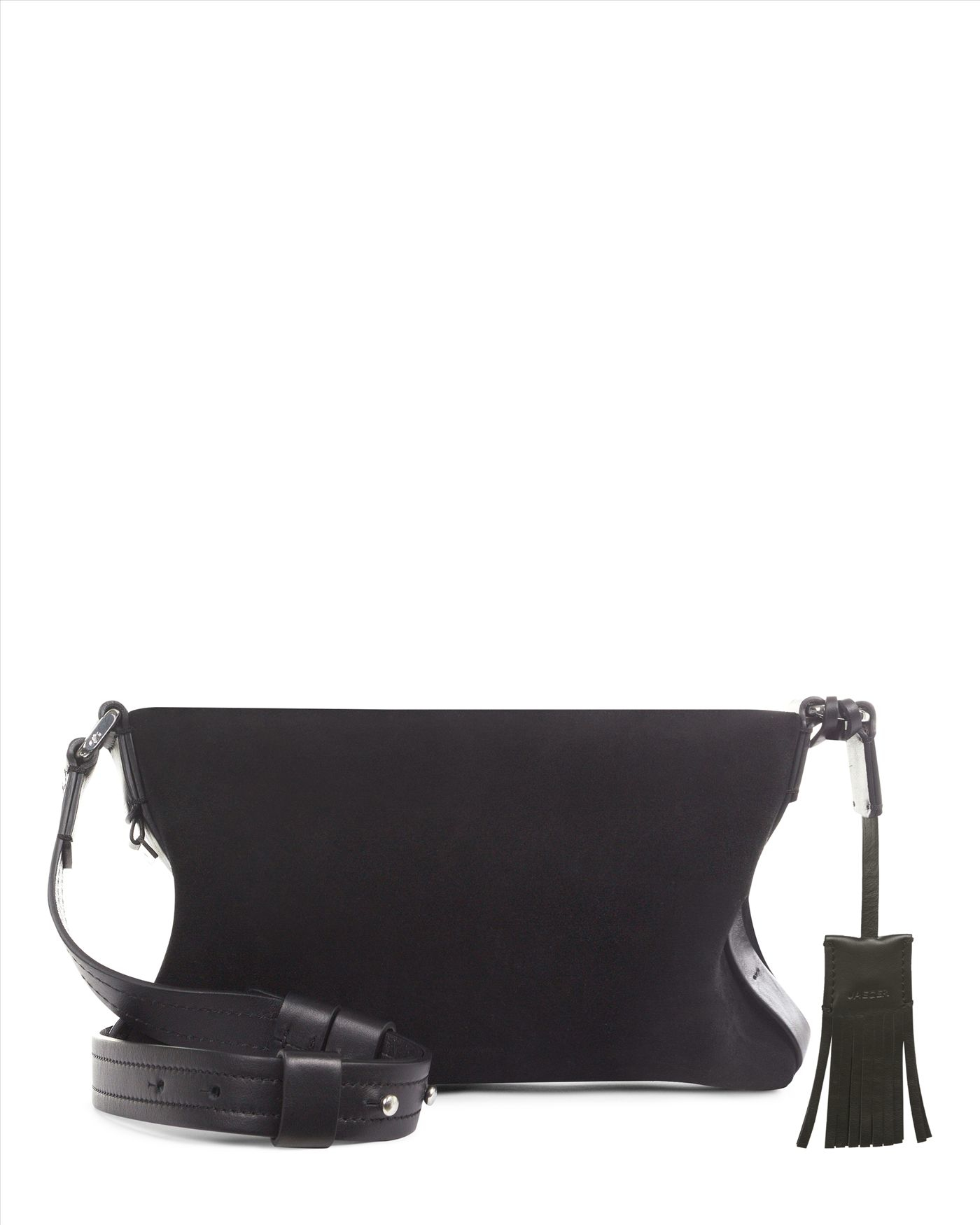 Jaeger Soho Leather Cross-body Bag in Black - Lyst 8d3c4e4597696
