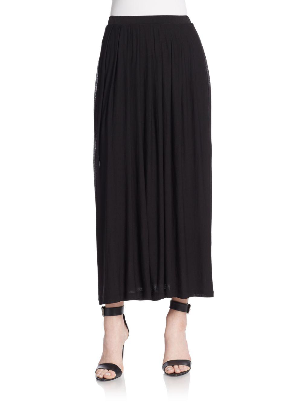 eileen fisher silk maxi skirt in black lyst