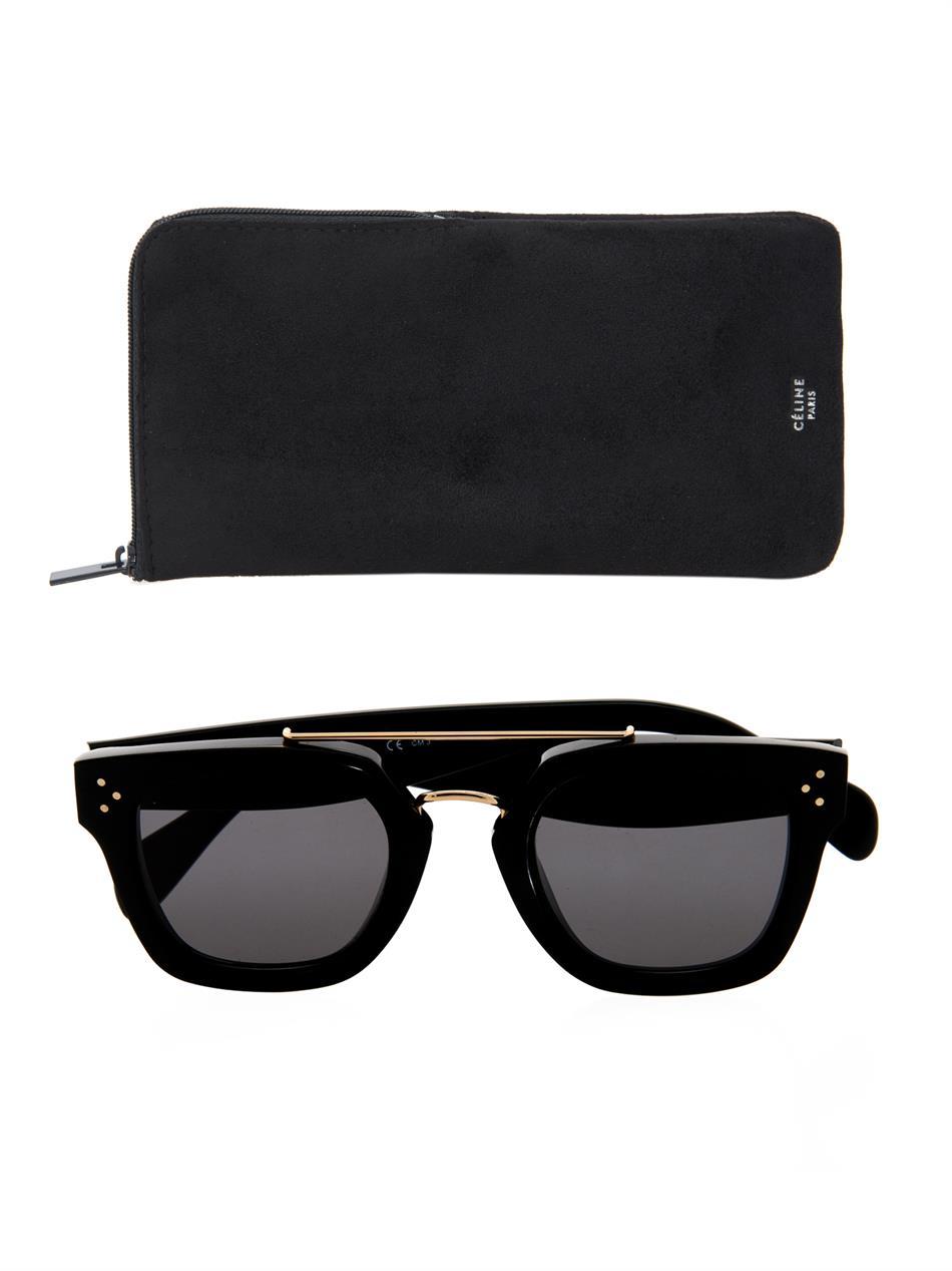 7b87b41ea5 Lyst - Céline Geometric Sunglasses in Black
