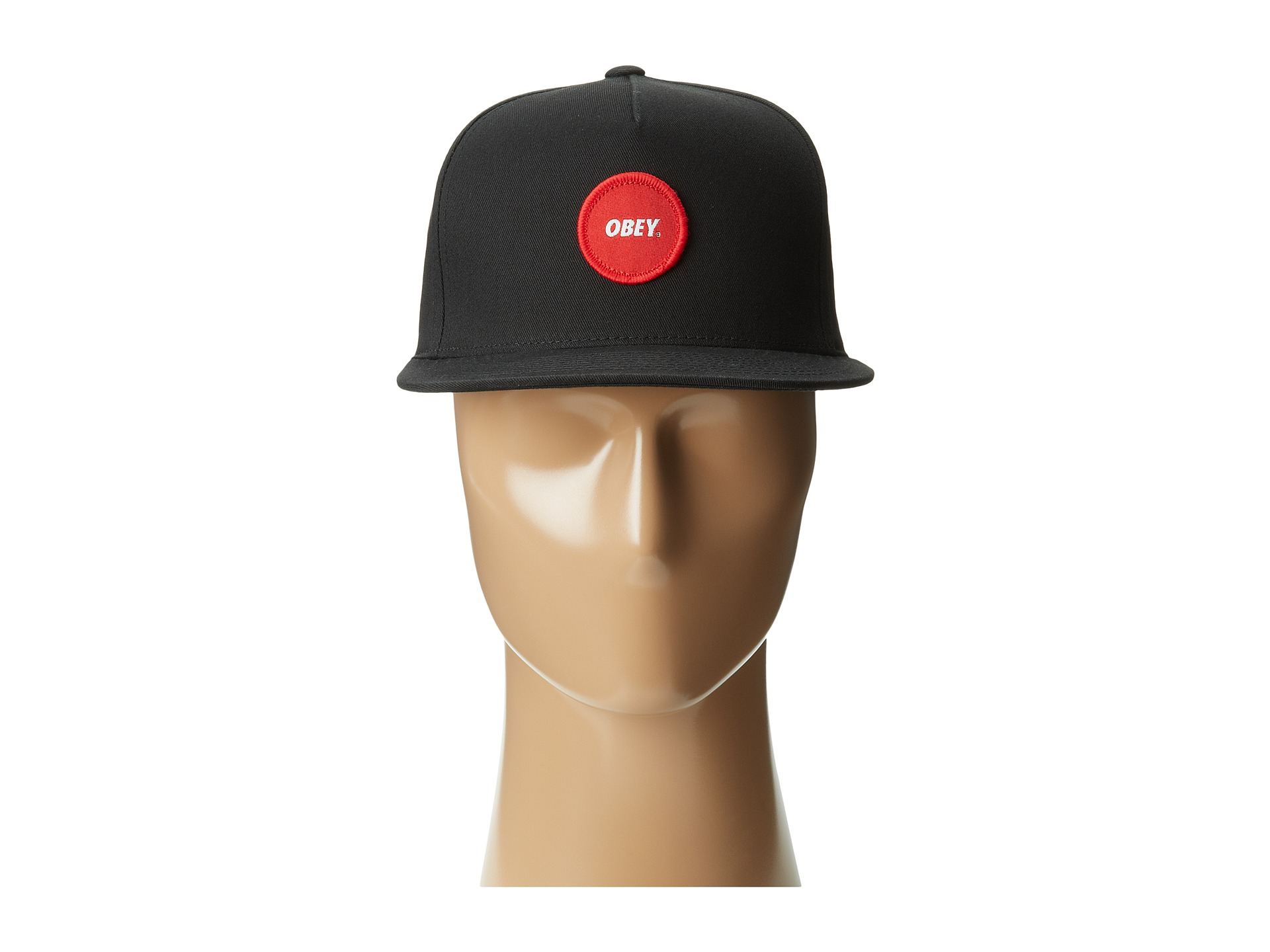 Lyst - Obey Circle Patch Ii Snapback Hat in Black for Men 9d993867d6c0