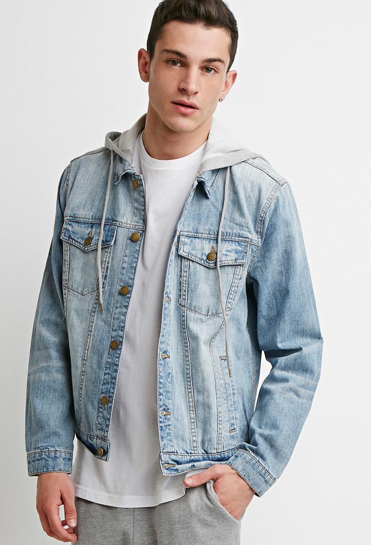 Hooded Blue Jean Jacket