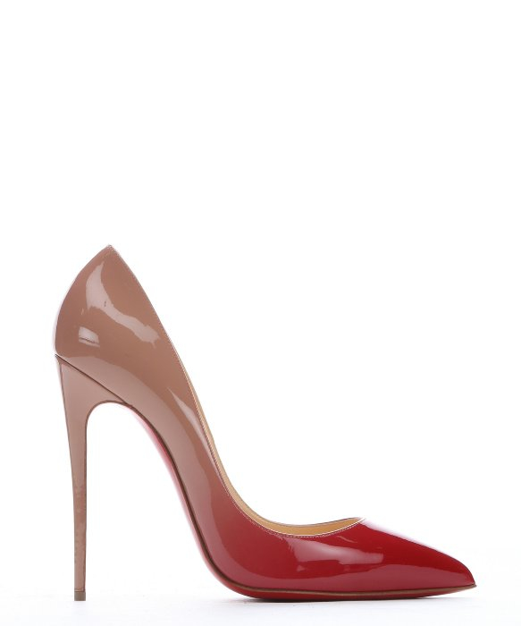 replica christian laboutin - Christian louboutin Red And Nude Patent Leather 'pigalle Follies ...