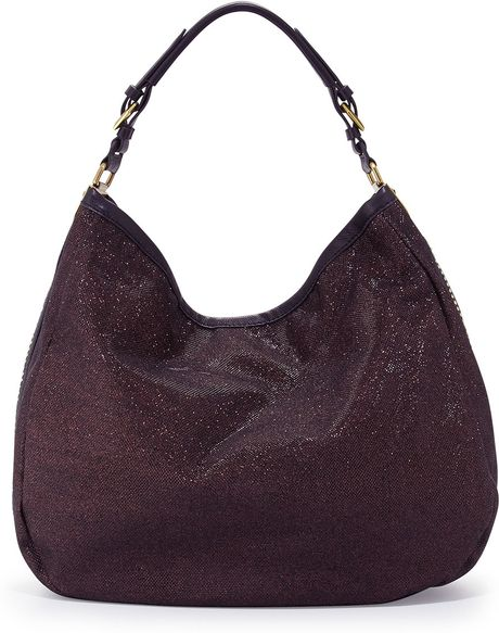 Oryany Noelle Glitterleather Hobo Bag Purple in Purple (null) - Lyst