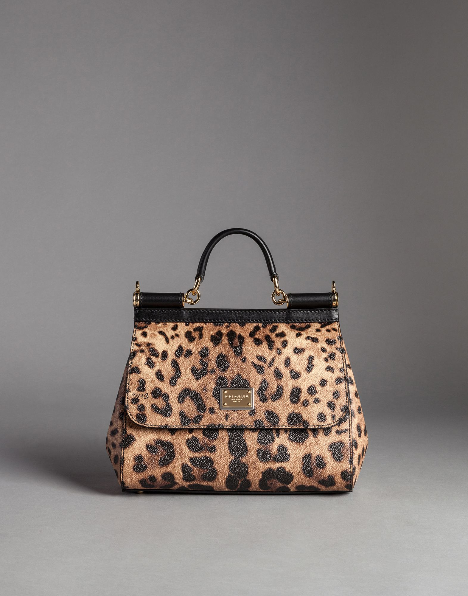 8073f8c68db Lyst - Dolce   Gabbana Medium Sicily Bag In Leopard Textured Leather ...