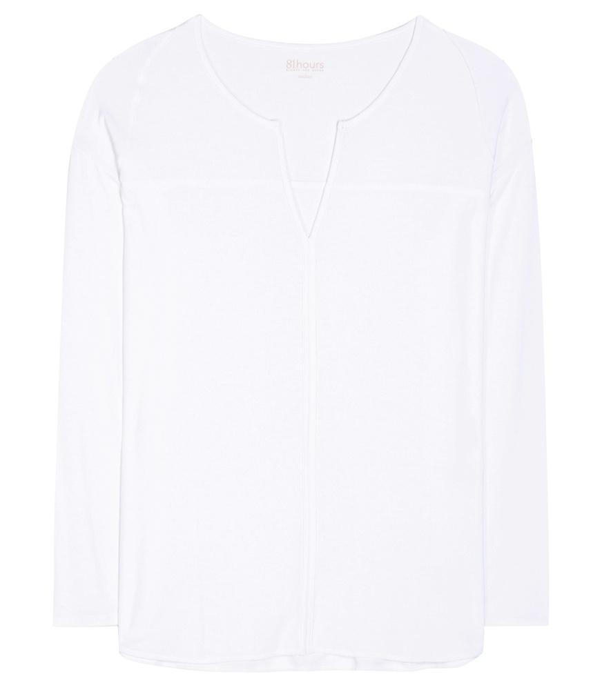 Lyst 81hours verona jersey top in white for Uniform verona
