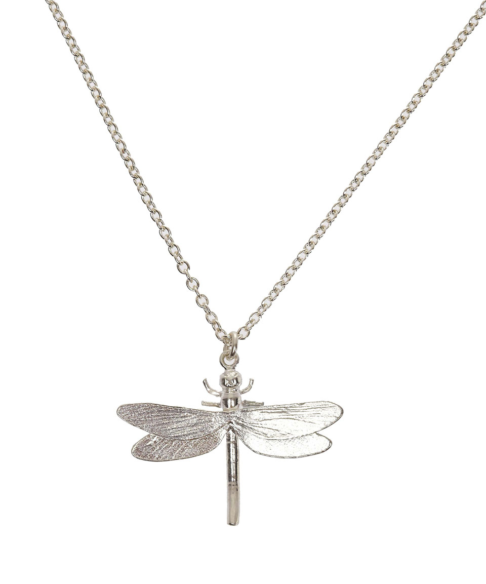 Lyst Alex Monroe Silver Dragonfly Necklace In Metallic