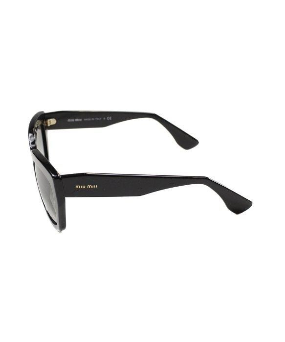 fc23f84798f8 Miu Miu Rasoir Mu 01Ps 1Ab0A7 Black Plastic Sunglasses Grey Gradient ...