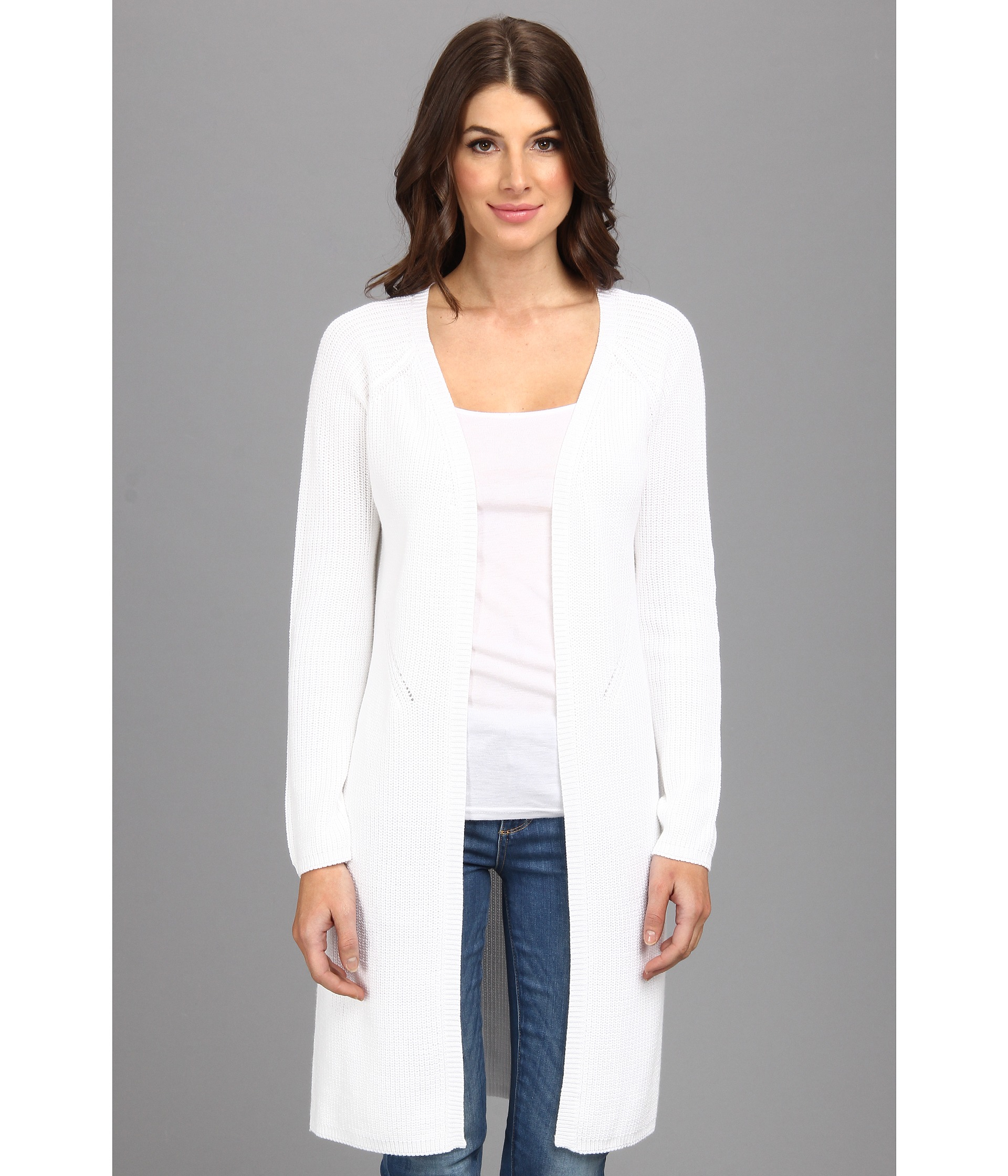 525 america Shaker Maxi Cardigan in White | Lyst
