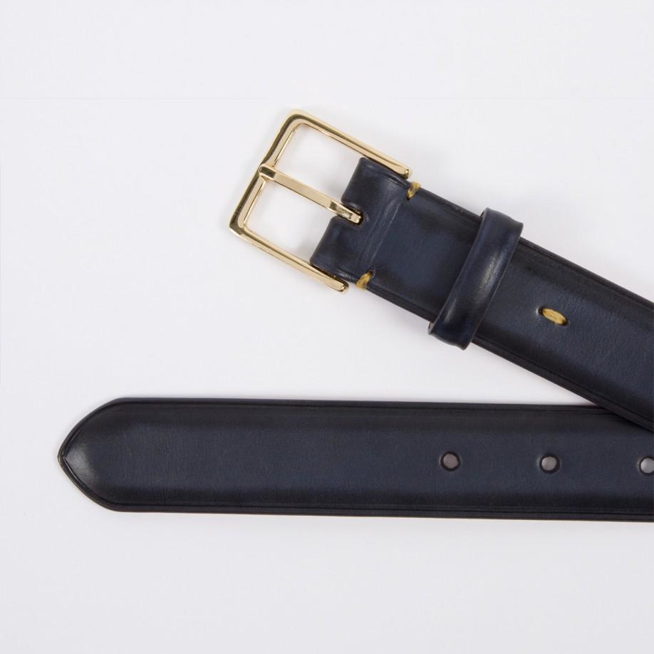 paul smith s burnished navy calf leather belt