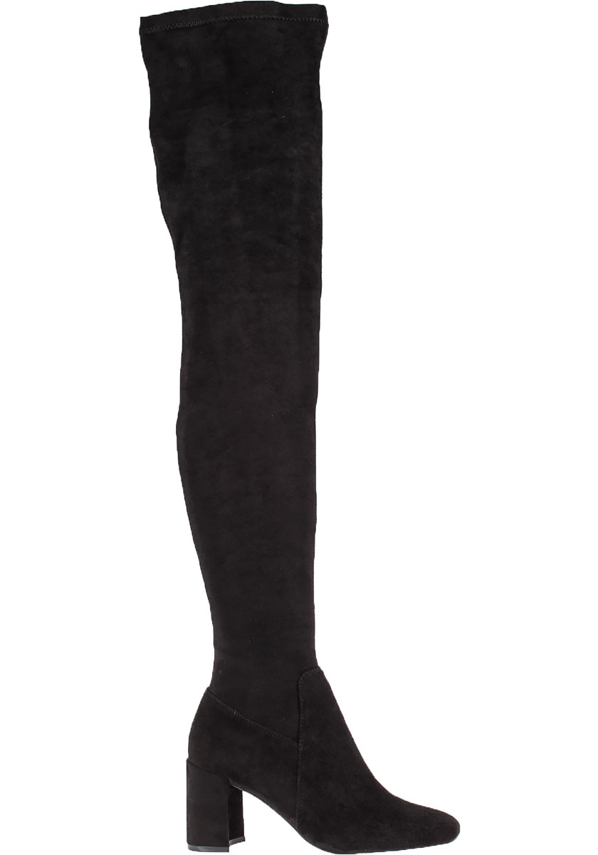 jeffrey cbell cienega suede thigh high boots in black