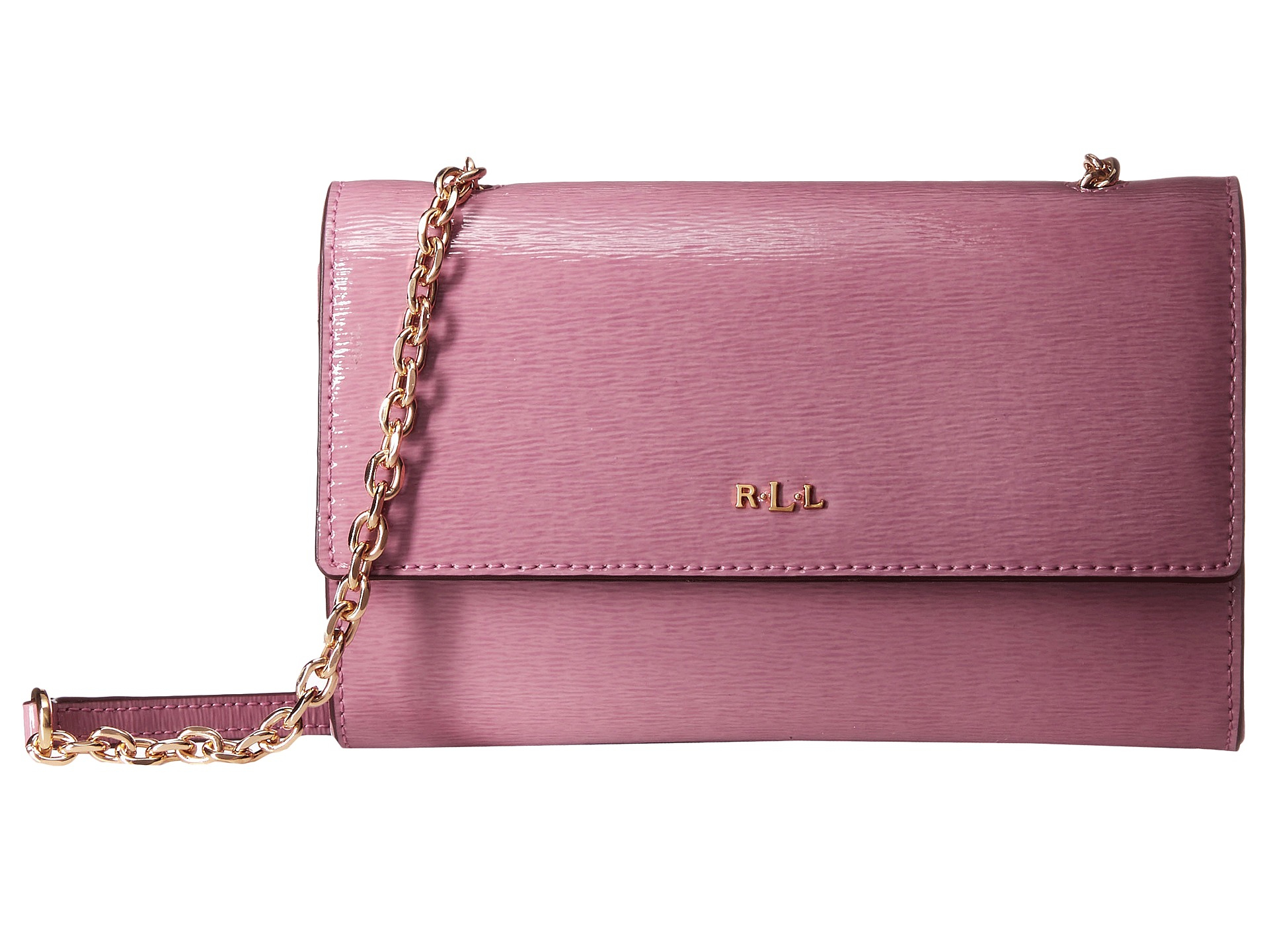 f526126d79 Lyst - Lauren by Ralph Lauren Tate Patent Mini Chain Crossbody in Pink