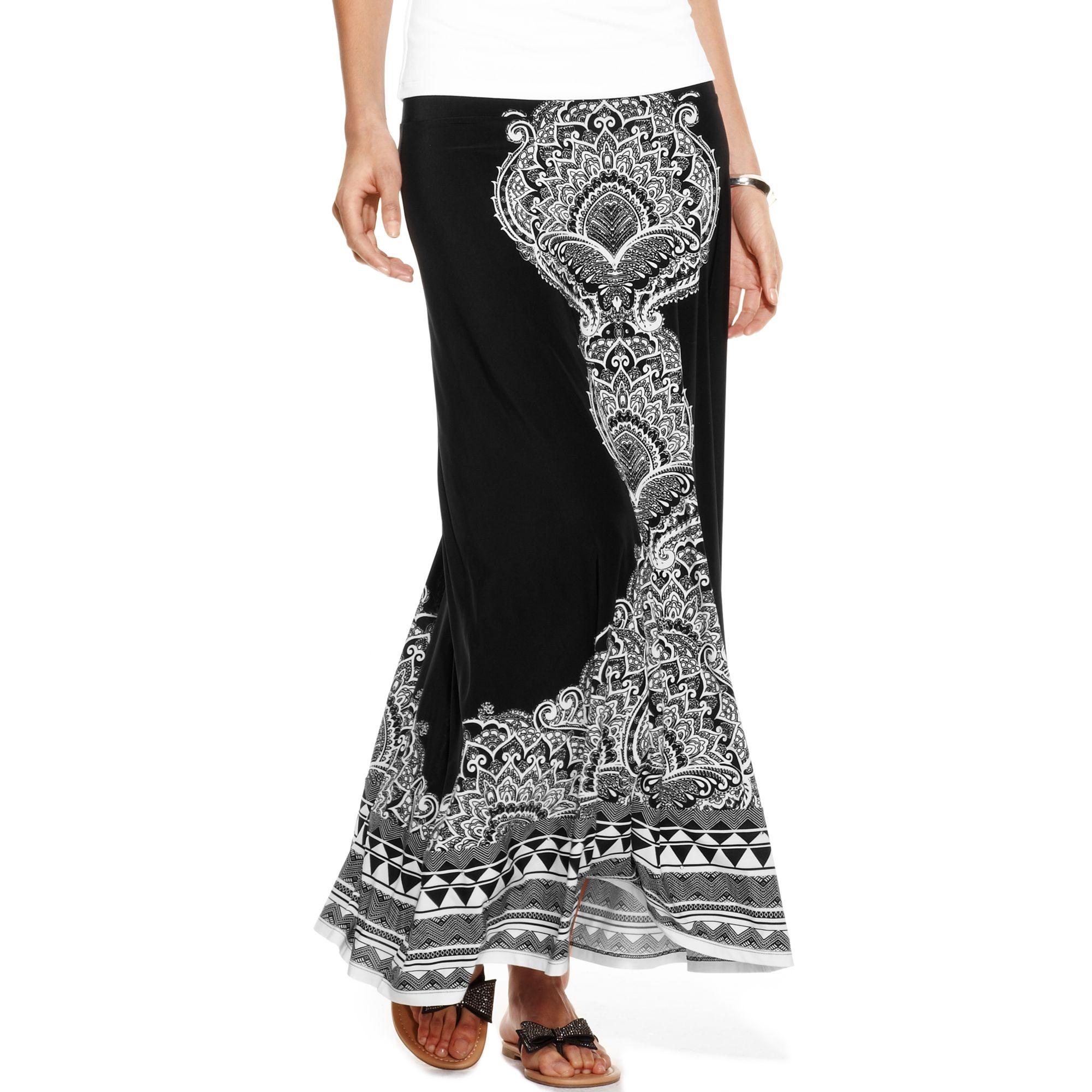 inc international concepts paisleyprint maxi skirt
