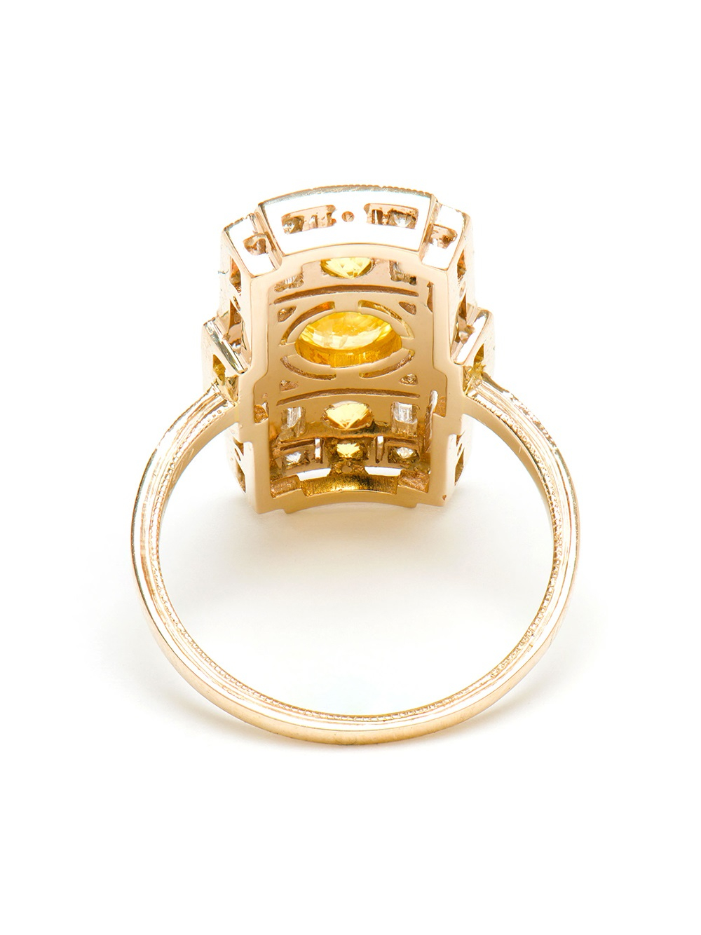sabine g 18kt white gold and yellow sapphire ring in gold
