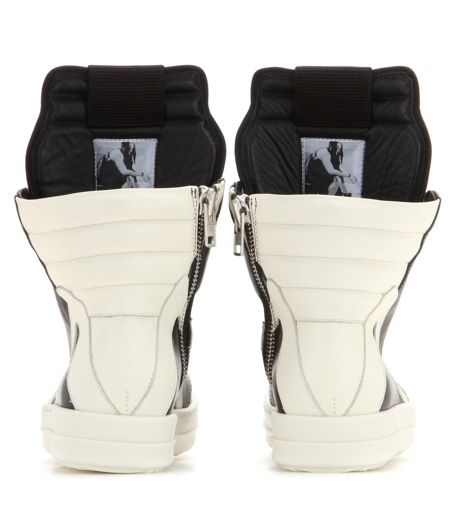 Lyst - Rick Owens Geobasket Leather High-top Sneakers in Blue