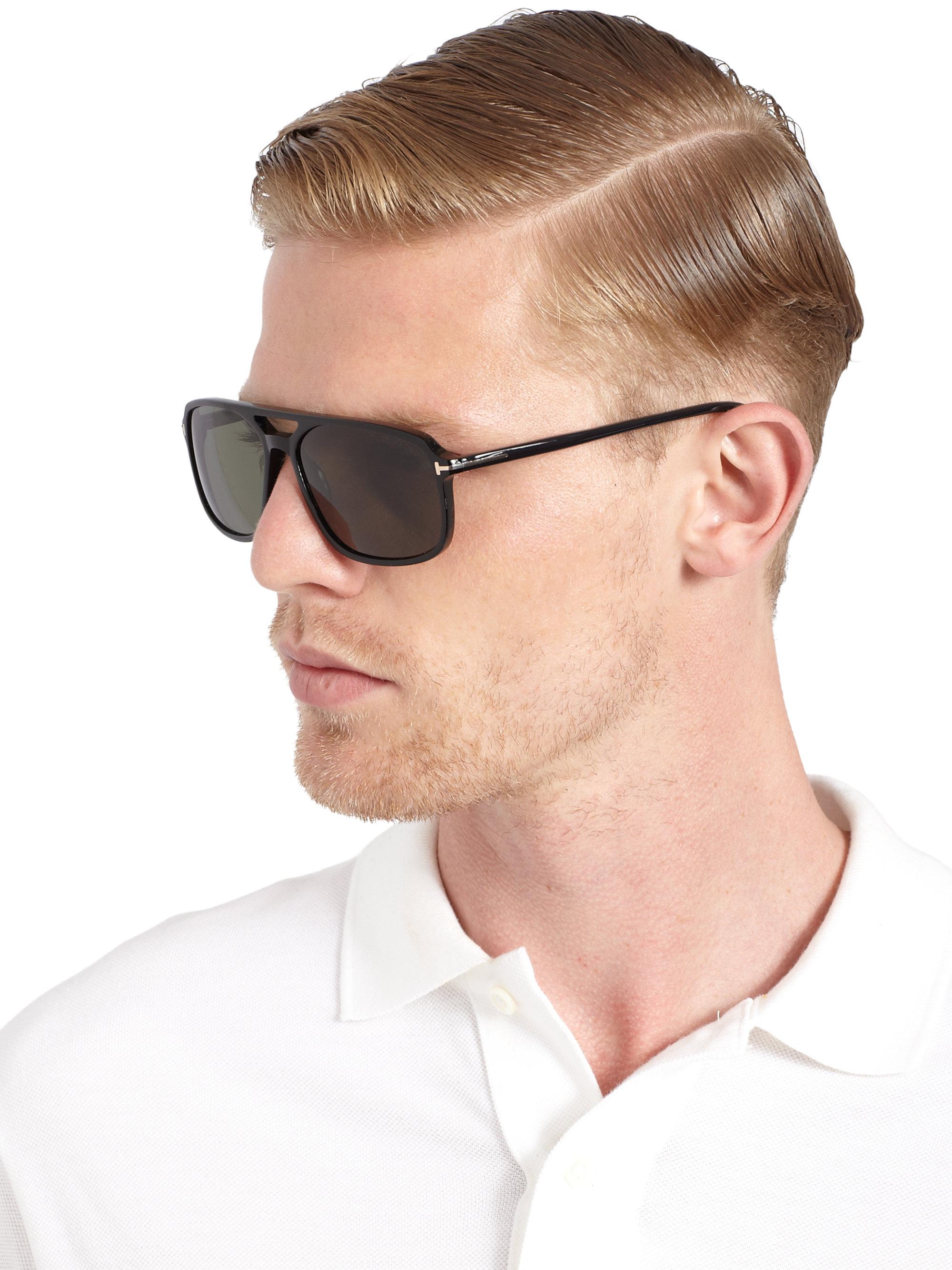 lyst tom ford flynn 58mm acetate sunglasses in black for men. Black Bedroom Furniture Sets. Home Design Ideas