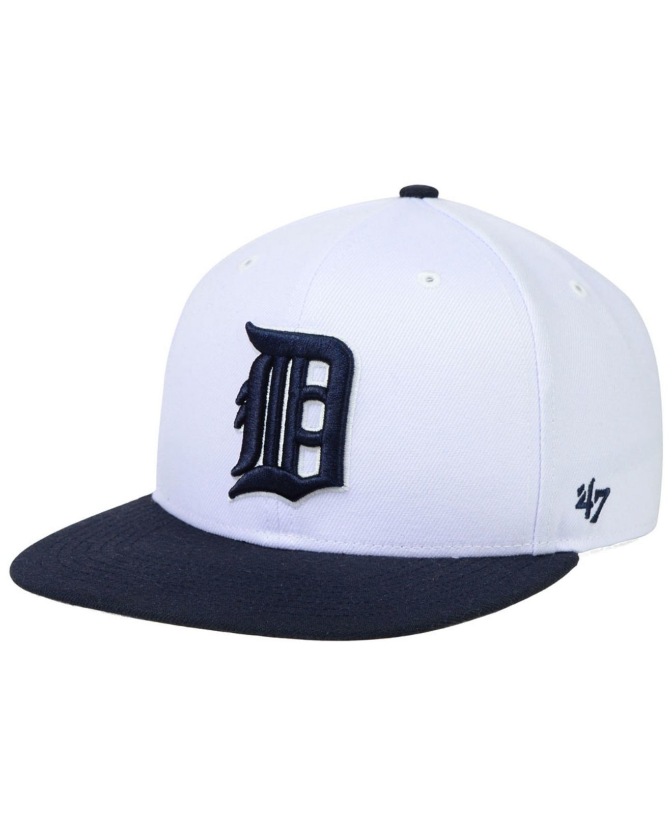 promo code 654dd db6cb 47 Brand Detroit Tigers Sure Shot Snapback Cap in White for Men - Lyst